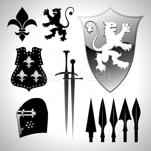 heraldic set Stock photo © kjolak