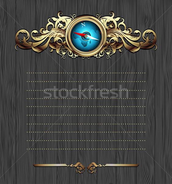 Foto stock: Bússola · quadro · ilustração · útil · estilista
