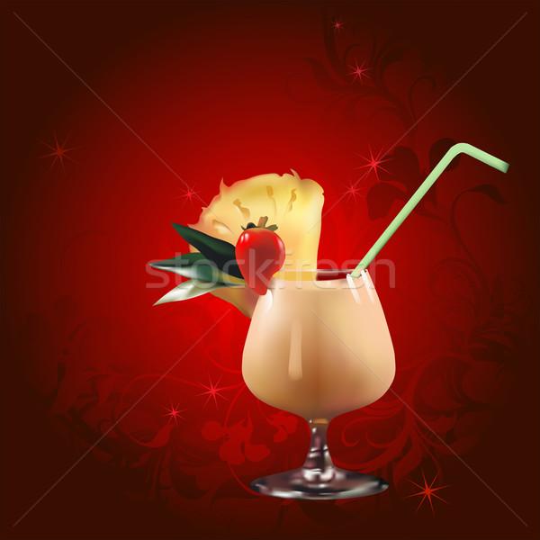 Cocktail illustrazione utile designer lavoro sfondo Foto d'archivio © kjolak