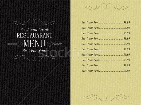 restaurant food and drink menu Stock photo © kjolak