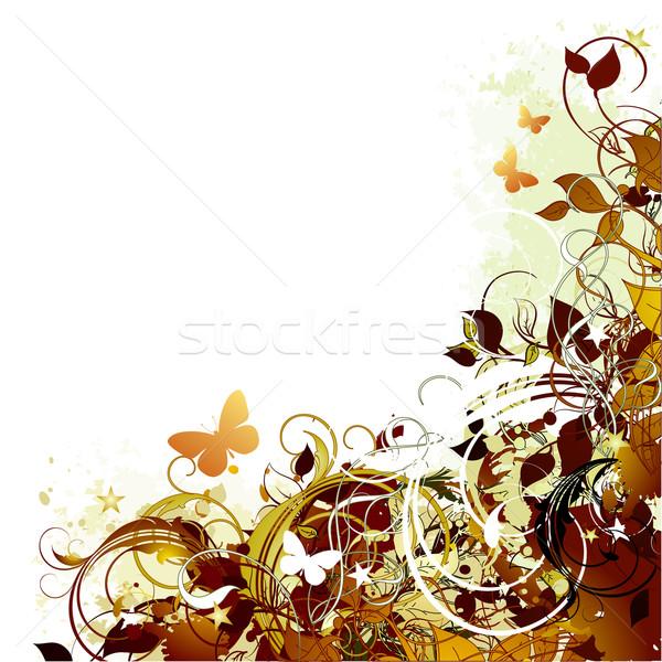 Floral ilustración útil disenador trabajo diseno Foto stock © kjolak