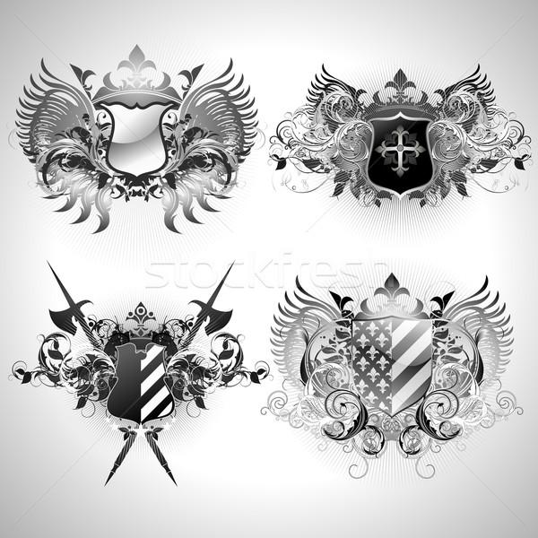 Illustration nützlich Designer Arbeit Rahmen Zeichen Stock foto © kjolak