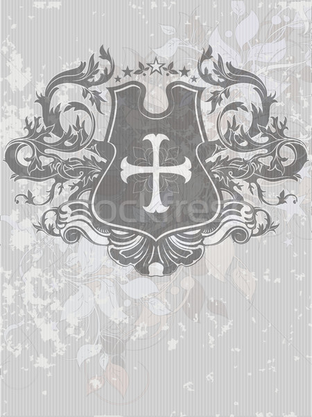 ornamental heraldic shield Stock photo © kjolak