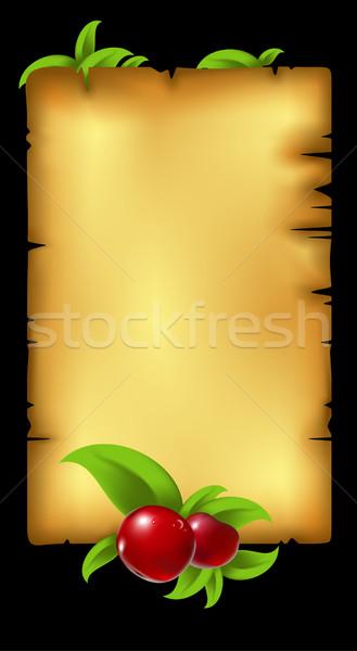 Papír levelek bogyó illusztráció hasznos designer Stock fotó © kjolak
