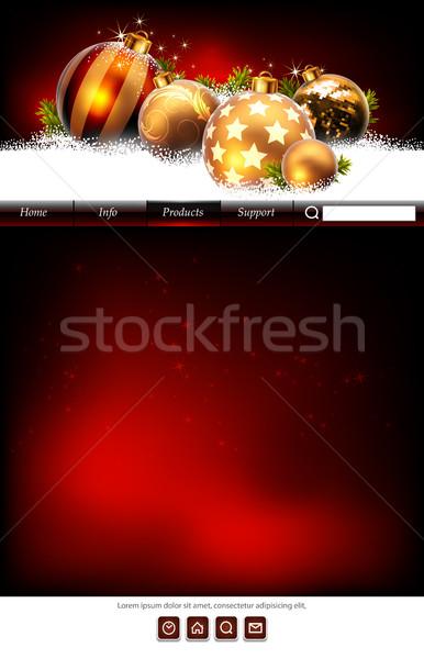 Weboldal sablon háló díszített karácsony stílus Stock fotó © kjolak