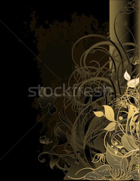 Virágmintás keret elemek illusztráció hasznos designer Stock fotó © kjolak