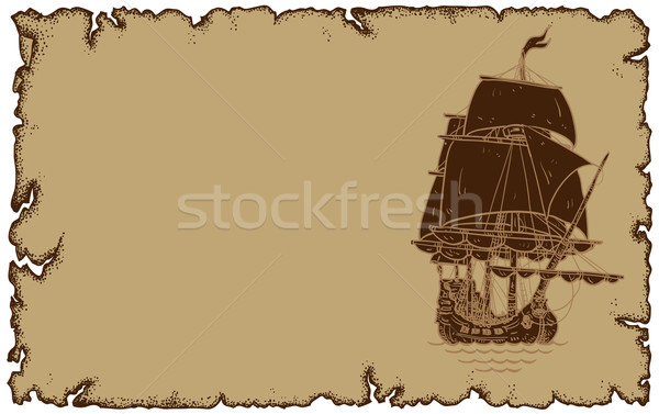 Pergamino velero ilustración útil disenador trabajo Foto stock © kjolak