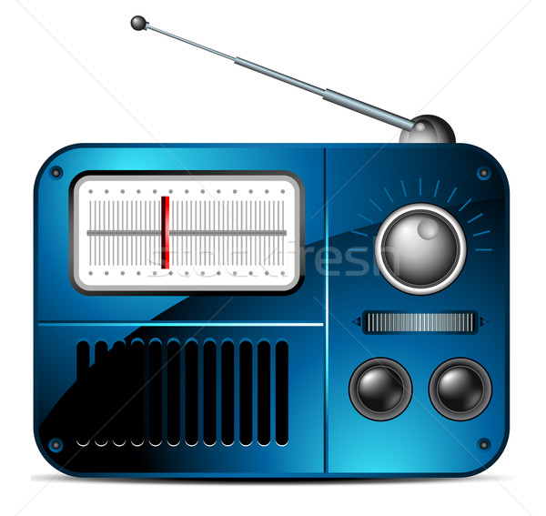 old FM radio icon Stock photo © kjolak
