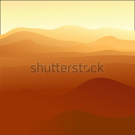 Sable illustration utile designer travaux coucher du soleil Photo stock © kjolak