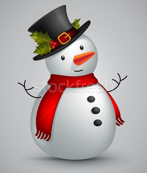 snowman in red scarf Stock photo © kjolak