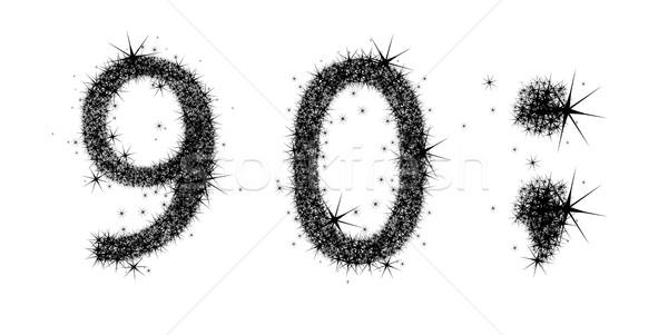 Kettő számjegyek fekete számok levél Stock fotó © kjolak