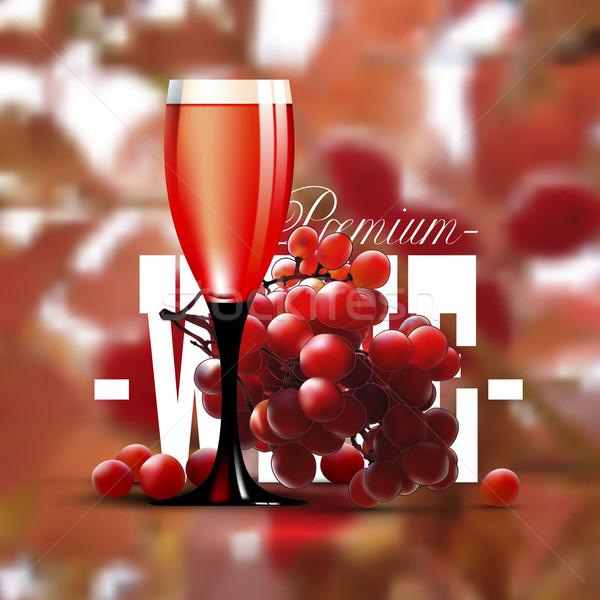 Wina winorośl premia szkła tle restauracji Zdjęcia stock © kjolak