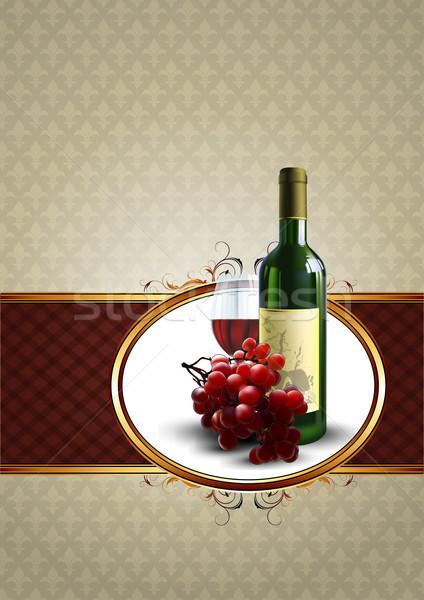 Vino decorativo design bottiglia vetro Foto d'archivio © kjolak