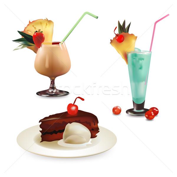 dessert Stock photo © kjolak
