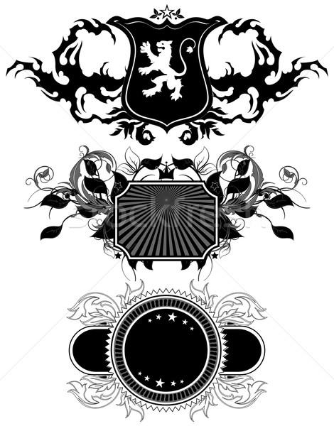 Foto stock: Establecer · ilustración · útil · disenador · trabajo
