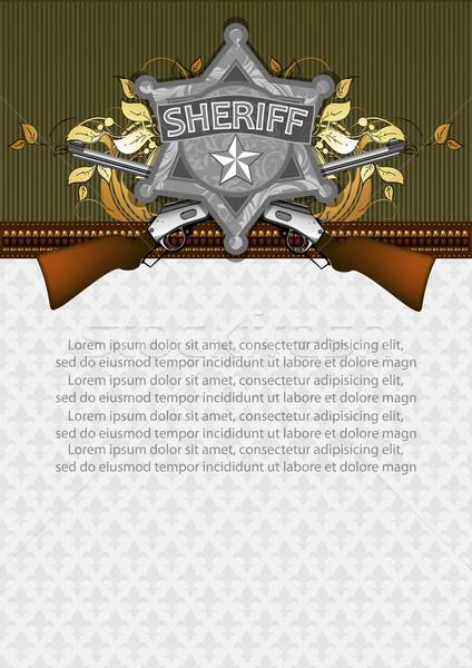 çerçeve şerif star örnek yararlı Stok fotoğraf © kjolak