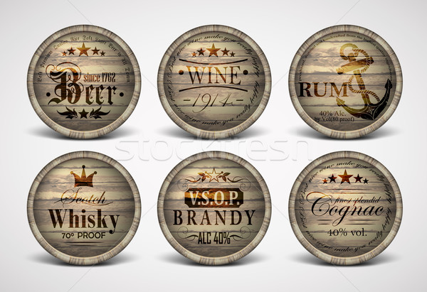 Stock photo: set of covers casks