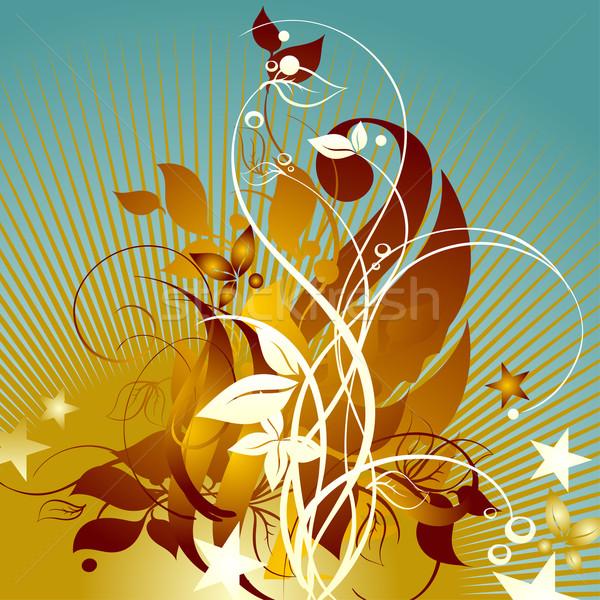 Virágmintás részletes illusztráció hasznos designer munka Stock fotó © kjolak