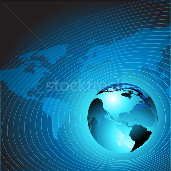 Mondo illustrazione utile designer lavoro blu Foto d'archivio © kjolak