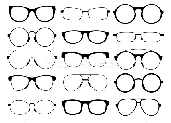 set of eyeglasses Stock photo © kjolak