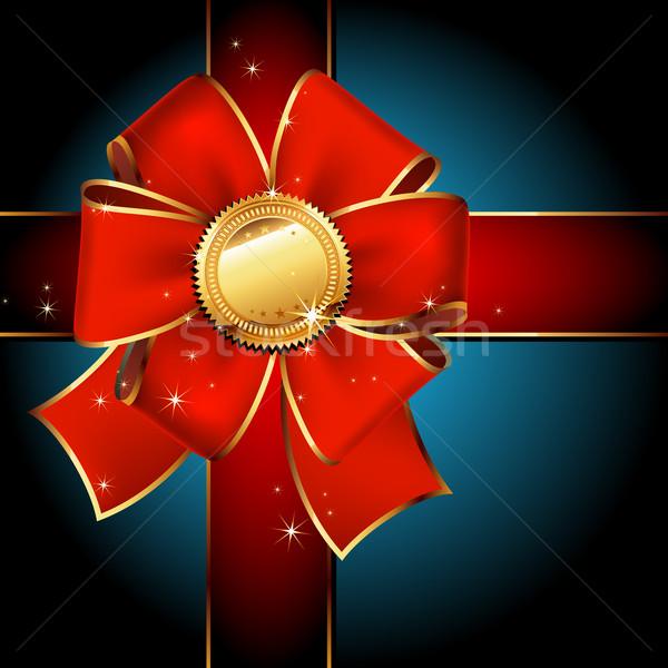 Etichetta rosso nastri illustrazione utile Foto d'archivio © kjolak