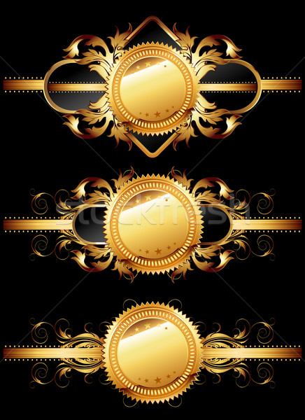 Establecer dorado ilustración útil Foto stock © kjolak