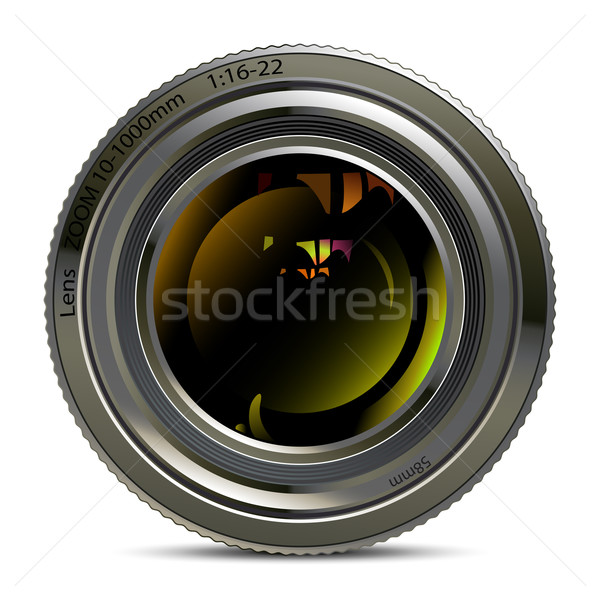 Photo lentille illustration utile designer travaux Photo stock © kjolak