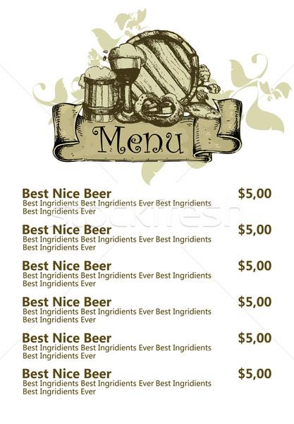 restaurant beer menu Stock photo © kjolak