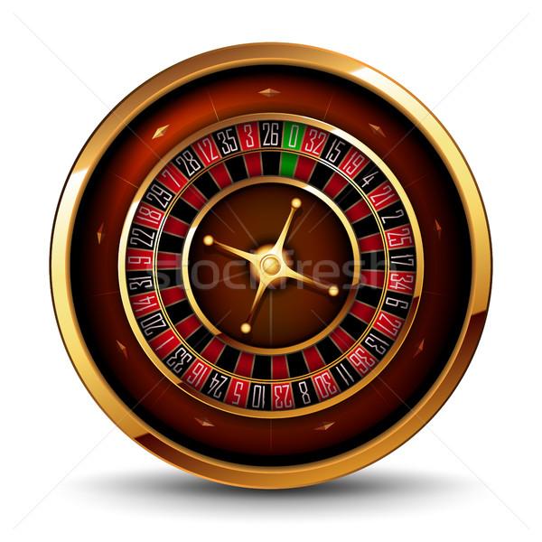Rulett kaszinó hangerő kép fehér pénz Stock fotó © kjolak
