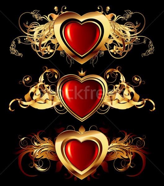 Szív keret illusztráció hasznos designer munka Stock fotó © kjolak