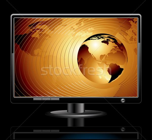 LCD panel világ illusztráció hasznos designer Stock fotó © kjolak