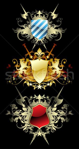 набор декоративный три средневековых украшенный оружием Сток-фото © kjolak