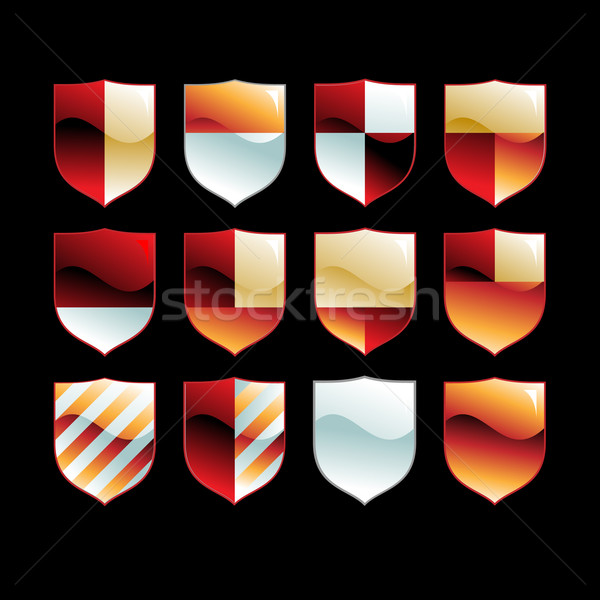 Medieval conjunto ilustração útil estilista trabalhar Foto stock © kjolak