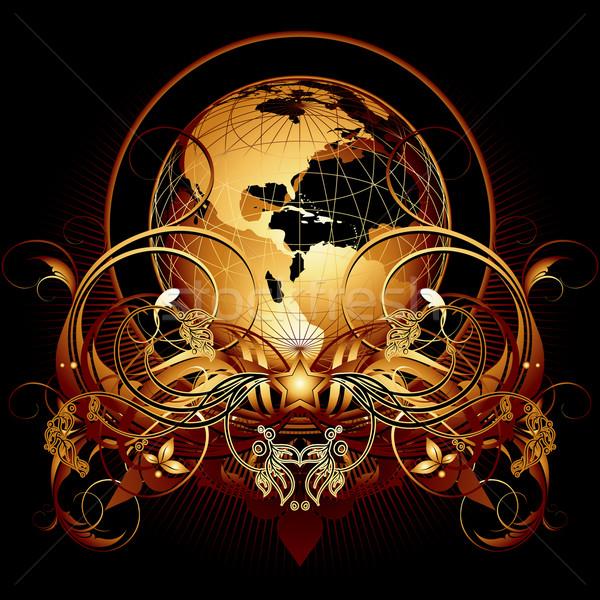 Világ díszes illusztráció hasznos designer munka Stock fotó © kjolak