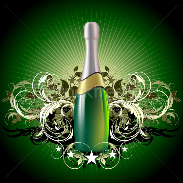 Champagne illustration utile designer travaux design Photo stock © kjolak