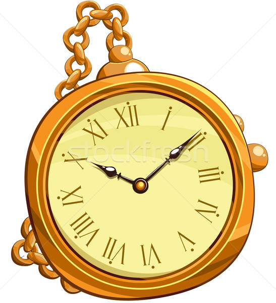 golden clock Stock photo © kjolak