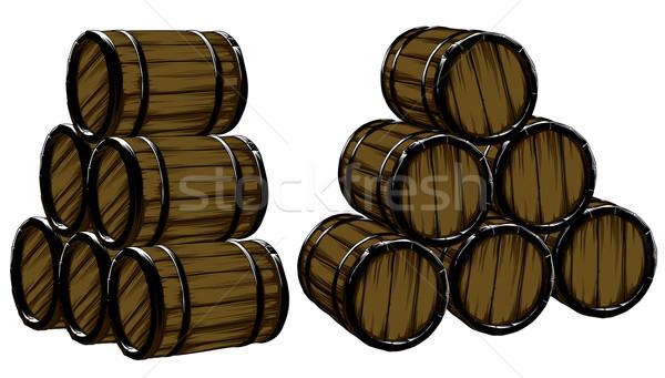 пива набор бизнеса фон баррель свежесть Сток-фото © kjolak