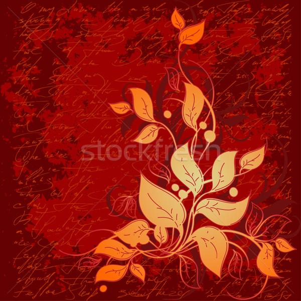 Floreale illustrazione utile designer lavoro abstract Foto d'archivio © kjolak