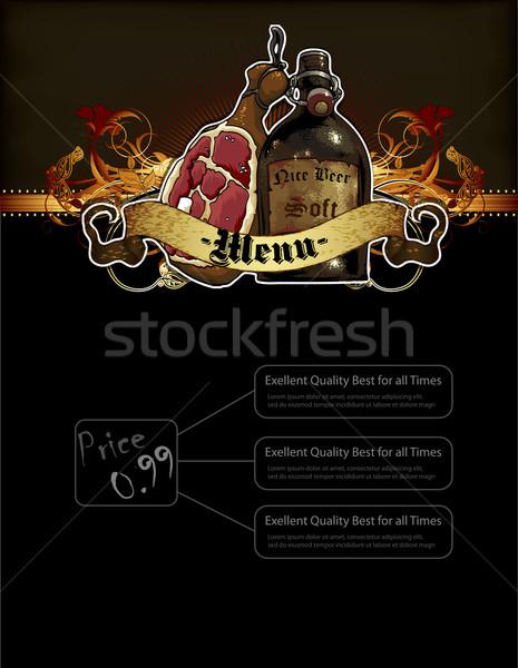 beer menu Stock photo © kjolak