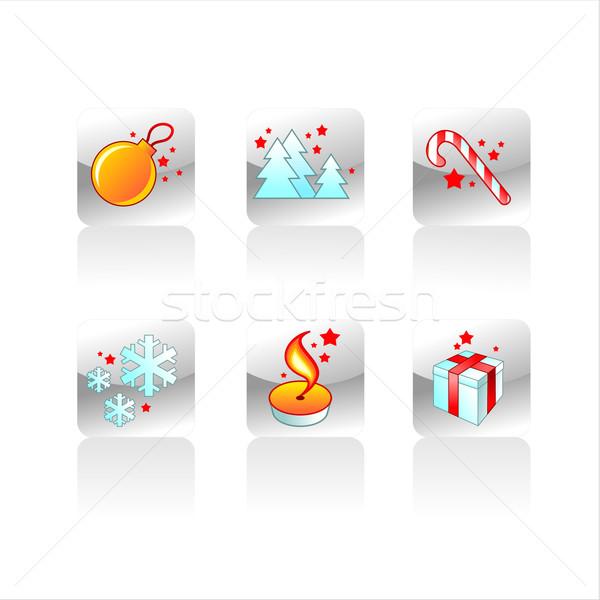 set christmas symbol Stock photo © kjolak