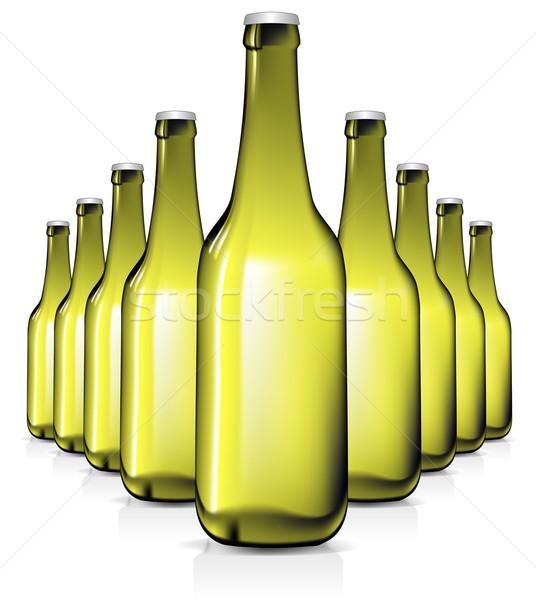 бутылок иллюстрация полезный дизайнера работу пива Сток-фото © kjolak