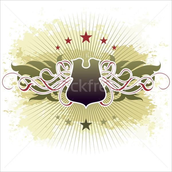 Díszítő pajzs illusztráció hasznos designer munka Stock fotó © kjolak
