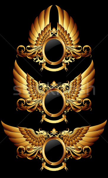 set of heraldic shield Stock photo © kjolak
