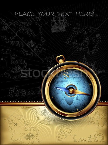 compass with ornate frame Stock photo © kjolak