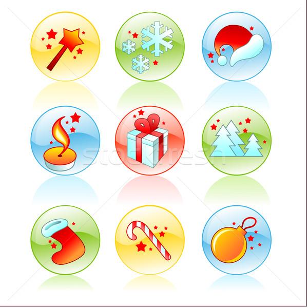 Establecer Navidad símbolo ilustración útil disenador Foto stock © kjolak