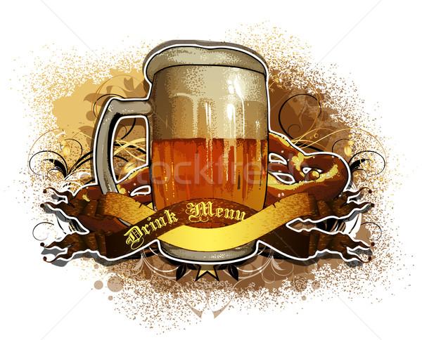 beer background Stock photo © kjolak