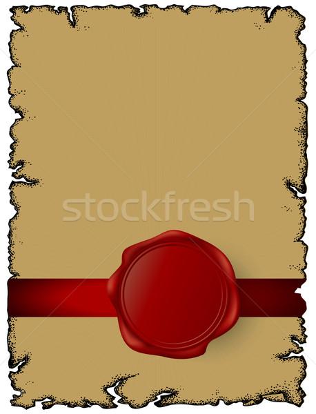 Carta cera sigillo illustrazione utile designer Foto d'archivio © kjolak