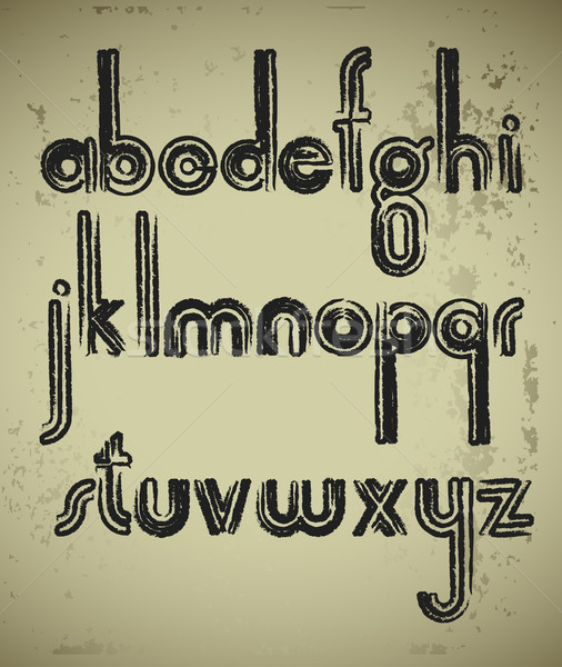 Alphabet illustration utile designer travaux design Photo stock © kjolak