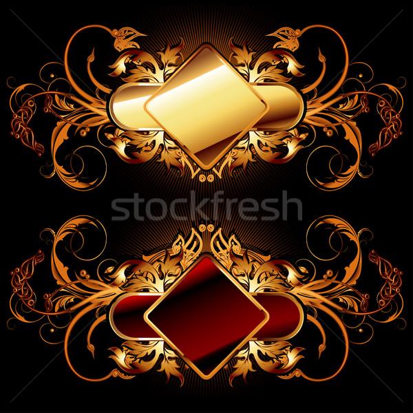 ornamental shields Stock photo © kjolak