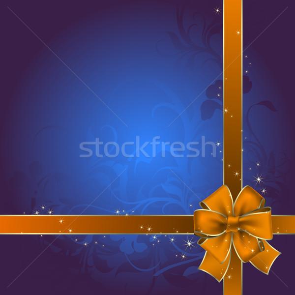 ünnep íj dekoratív szalag illusztráció hasznos Stock fotó © kjolak